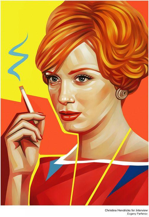 #MadMen   Illustrations for Rolling Stone: Evgeni Parfenov, Illustrations, Rolls Stones, Madmen, Art, Mad Men, Behance Network, Portraits, Christina Hendricks