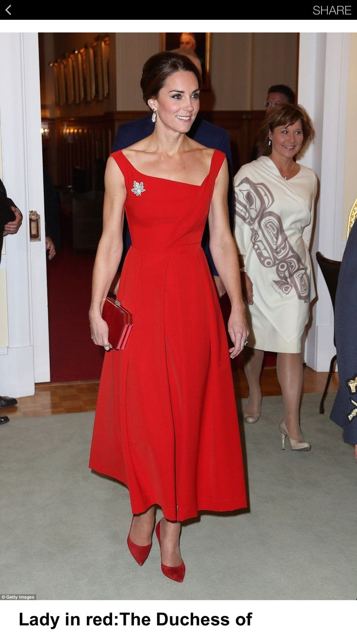 Kate looks great in red