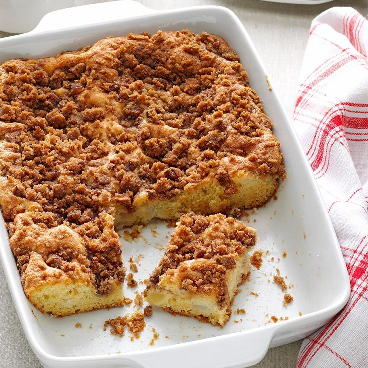 Apple Pear Coffee Cake Recipe -A friend gave me this apple pear coffee cake recipe to make for a breakfast I was hosting. The pan was empty before the breakfast was over! It's one of my most-requested recipes, probably because it's a bit different. —Joanne Hoschette, Paxton, Massachusetts