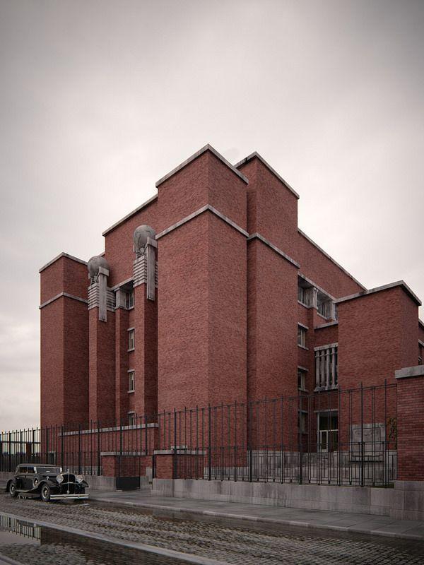 Larkin Building Frank Lloyd Wright 38 best Larkin Office ...