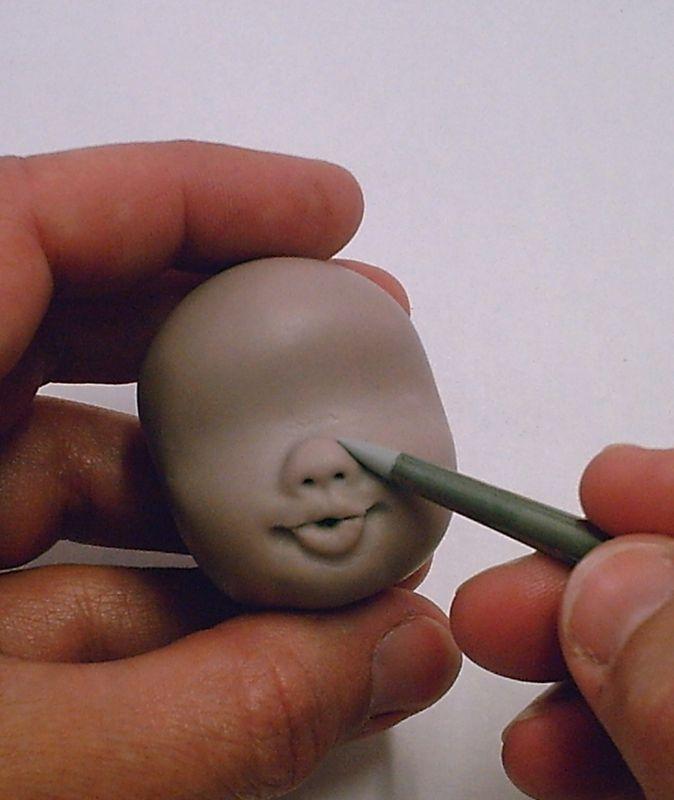 b. modeler un visage et une main - Album photos - La porcelaine à modeler de Natasel