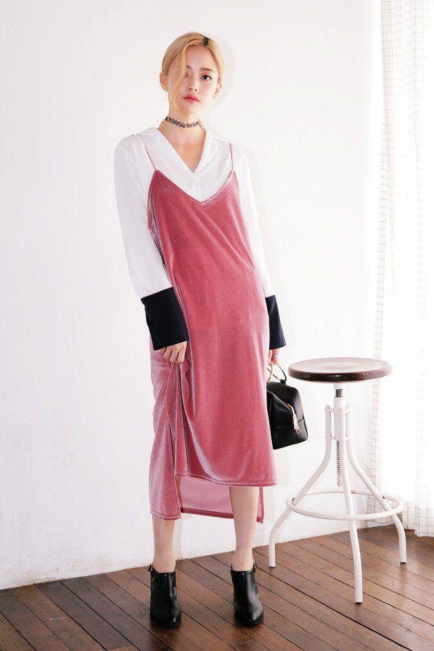 Follow Me Down Velvet Slip Dress