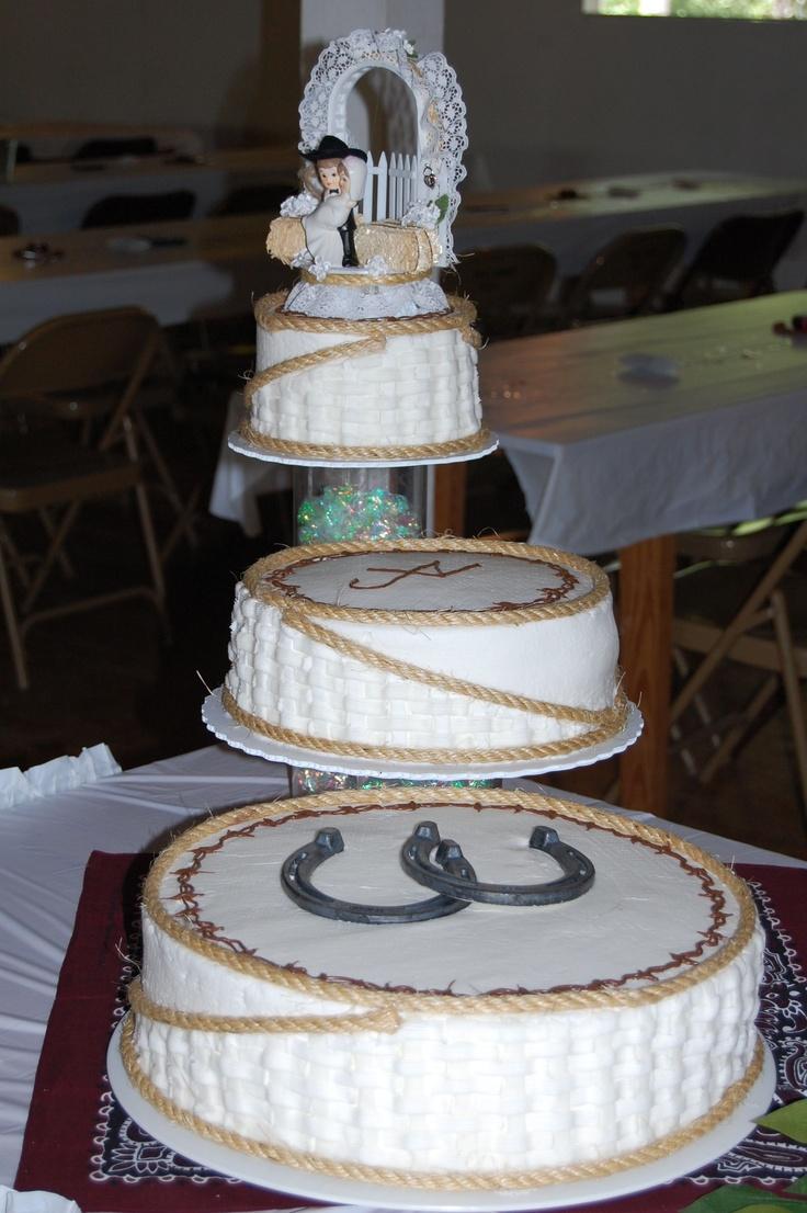 cowboy wedding - Cowboy three teir wedding.