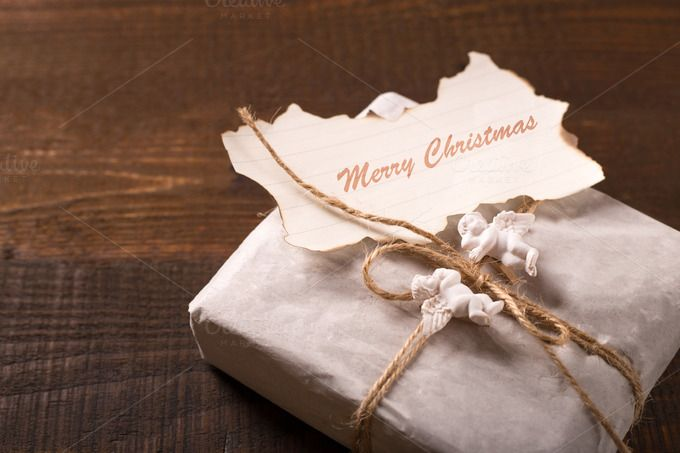 vintage gift box for christmas by peterzsuzsa on Creative Market