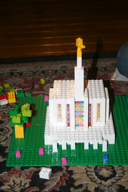 Seattle temple from legos by our old friends:)