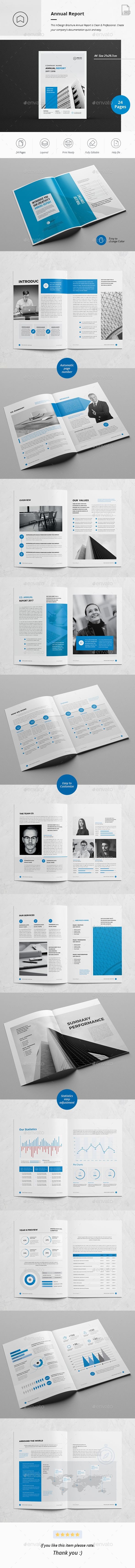Annual Report 28 Pages — InDesign INDD #market #creative • Available here ➝ https://graphicriver.net/item/annual-report-28-pages/21014448?ref=pxcr