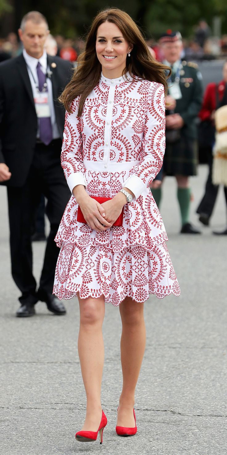 Kate Middleton Radiates in the Colors of the Canadian Flag for a Visit to Vancouver from InStyle.com