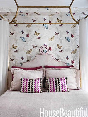 Designing tips on  Decorating a Modern Day Fairy Tale Home: Nina Campbell, Decor Ideas, Girls Bedrooms, Butterflies Wallpapers, Interiors Design, Bedrooms Decor, Bedrooms Ideas, Girls Rooms, Beautiful Bedrooms