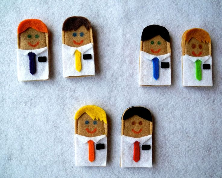 LDS (Mormon) missionary finger puppets