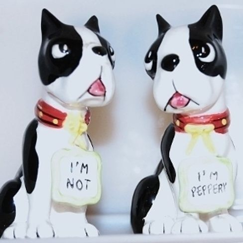 Buy Vintage Boston Terrier Dogs Salt $ Pepper Shakers by ...