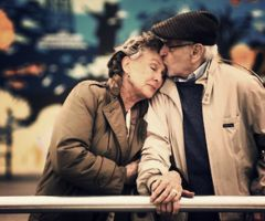 I want to be this in love when I'm this old. Reminds me of my grandparents who have been married 69 years!