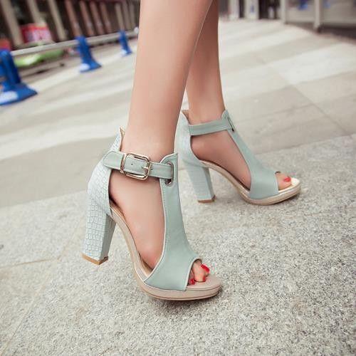 2017 горячей моды летние сандалии сексуальная peep toe женщин высокие каблуки туфли на платформе женщина пряжки свадебные туфли сандалии для женщины купить на AliExpress