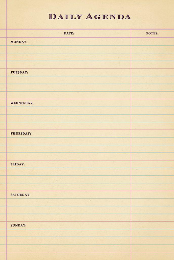 Best 25+ Daily agenda ideas on Pinterest Agenda planner, Daily - agenda