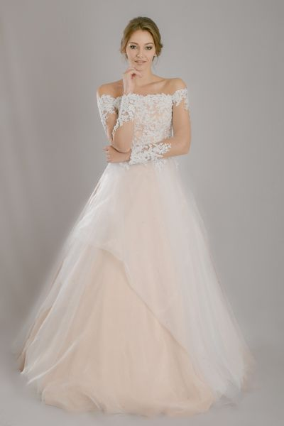 26 mejores imágenes de Vestidos de novia de hombros caídos en ...