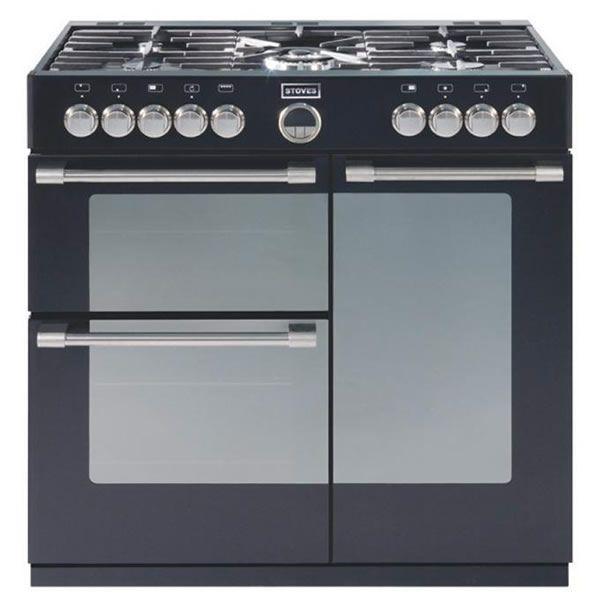 Good Freestanding Range Cookers Uk Part - 5: Stoves STERLING 900DFT BLACK 900mm Dual Fuel Range Cooker 5 X Burner Gas  Hob Black |