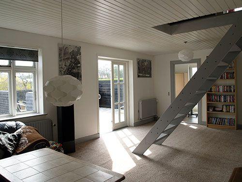 Fritids hus til salg på Samsø med stor stue og udgang til nylagt terrasse