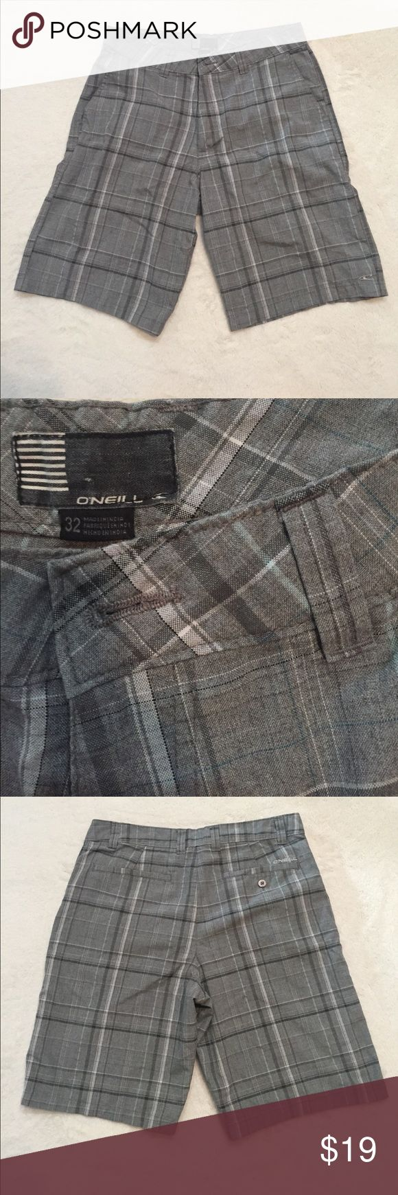 O'Neill Plaid Shorts Grey and light blue men's plaid O'Neill shorts O'Neill Shorts