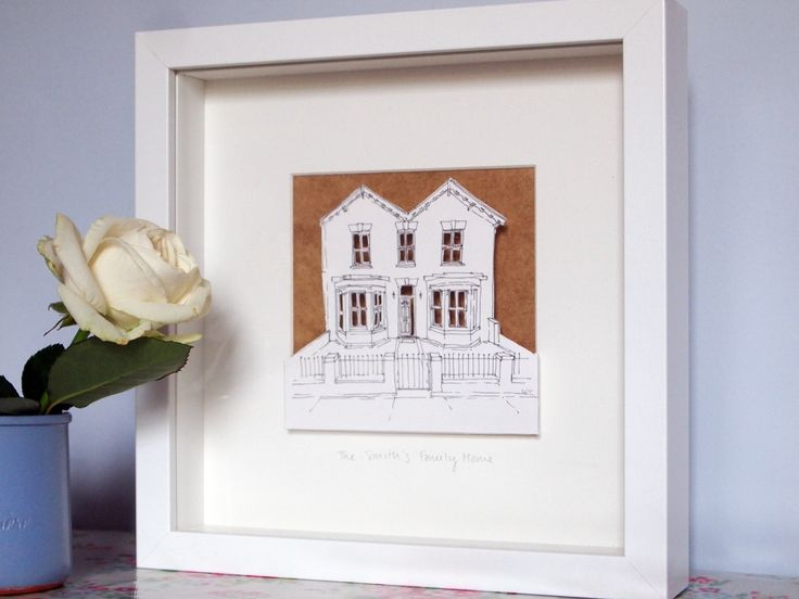 Personalised+pop-out+House+Paper+Cut, £55.00