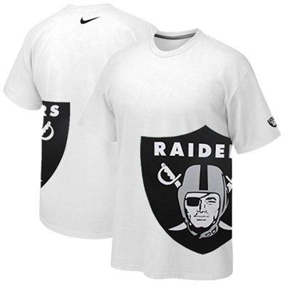 @Fanatics #FanaticsWishList Nike Oakland Raiders Logo Stack Premium T-Shirt - White for lil brother