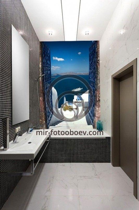 Как увеличить пространство в ванной? Вам помогут наши фотообои!