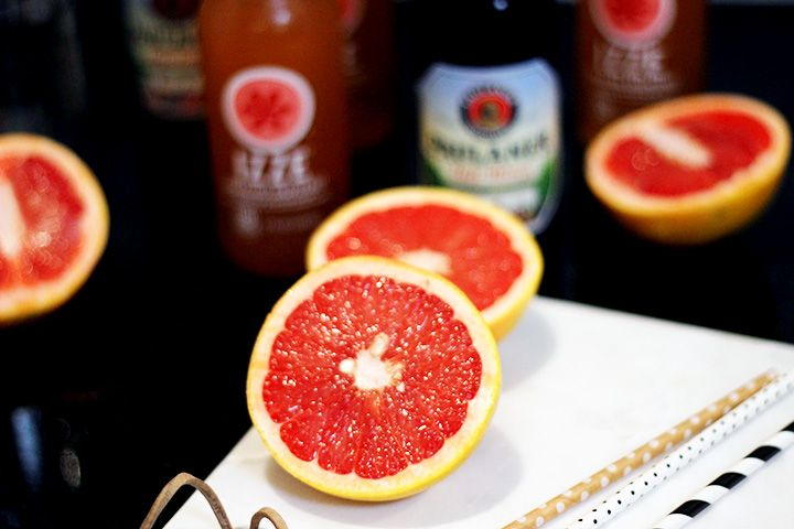 The Gas Station Grapefruit Shandy || The perfect cocktail for tailgating, or when you can't find a liquor store nearby! All ingredients can be found a the gas station!