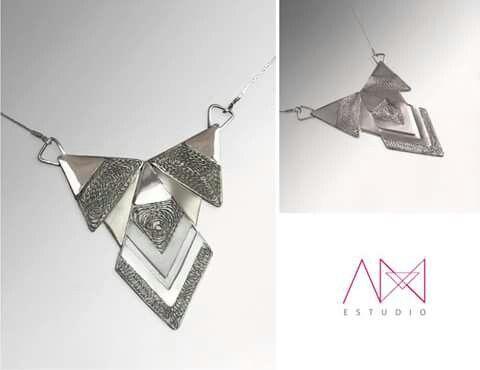 Collar, plata 925, triángulo, AM ESTUDIO