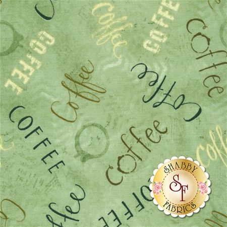 But First, Coffee! 54525-429 Teal by Katie Doucette for Wilmington Prints: But First, Coffee! is an adorable coffee-inspired collection by Katie Doucette for Wilmington Prints. Width: 44