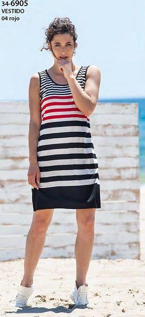 Playera  rayada de la firma textil Vania. Una prenda muy versátil que no te la quitarás este verano.