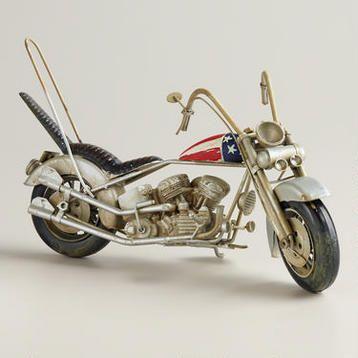Metal Easy Rider Motorcycle Decor - world market