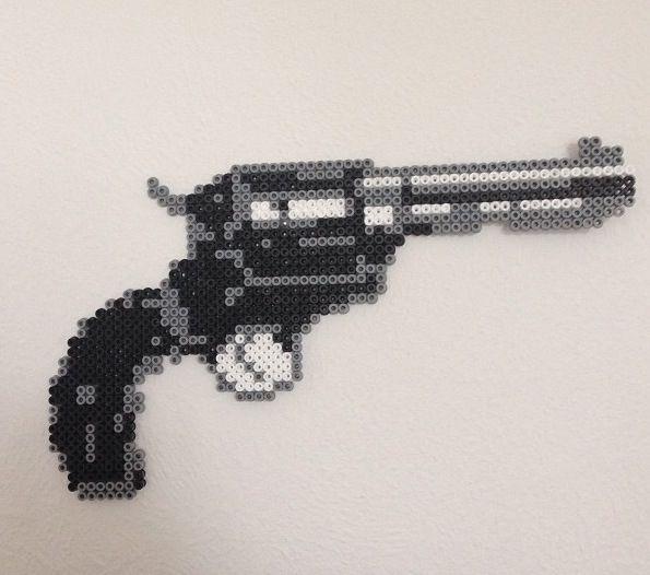 Diy gun made of Hama beads