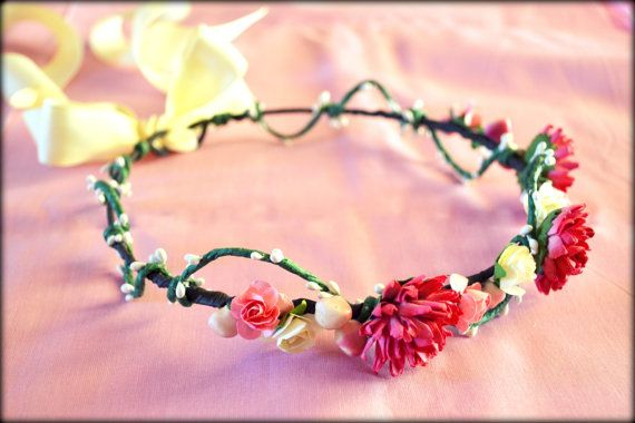 Floral Crown Woodland Crown Wedding Crown by MarianaHandmade, $38.00