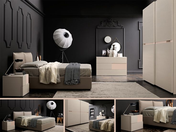 CAMERA PIETRA DI LUNA Una camera da letto dall'estrema eleganza e funzionalità, completa di letto in ecopelle, comò a 3 cassetti, armadio a...