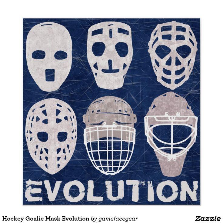 Hockey Goalie Mask Evolution Poster http://www.zazzle.com/hockey_goalie_mask_evolution_poster-228084150784218331?rf=238588924226571373