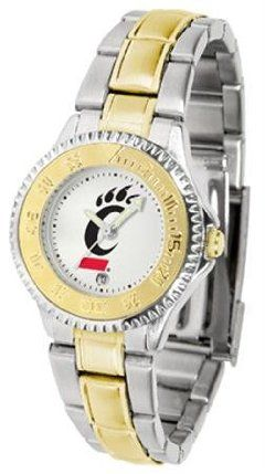 Cincinnati Bearcats UC NCAA Womens Competitor Two-Tone Watch by SunTime. $86.95. The ultimate fans statement our Competitor Two-Tone timepiece offers men a classic business-appropriate look. Features a 23kt gold-plated bezel stainless steel case and date function. Secures to your wrist with a two-tone solid stainless steel band complete with safety clasp.. Save 21%!