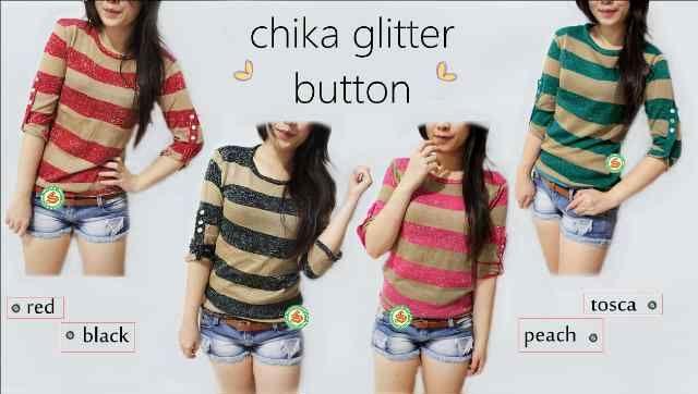 """Chika Button"" Ready Stock Rp 44000 Tersedia 4 warna"