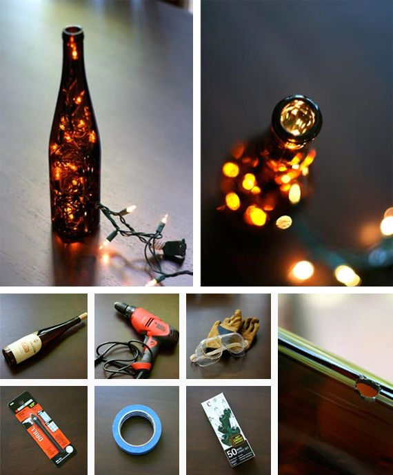 Wine bottle light in Crafts for decorating and home decor, parties and events