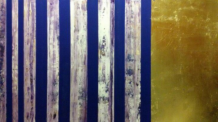 Acrilico su tela con foglia d' oro