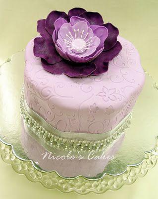 Jewelry box purple cake for bridal shower