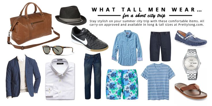 The Ultimate Tall Men Packing List For Your Next City Trip. Tall Men Fashion at Pretty Long.