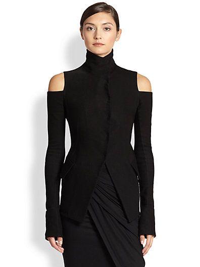 Donna Karan - Cold-Shoulder Jacket + Draped Sarong Skirt- Saks.com