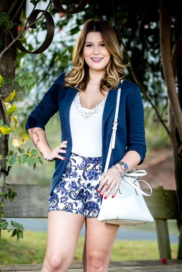 Look do dia: azul e branco