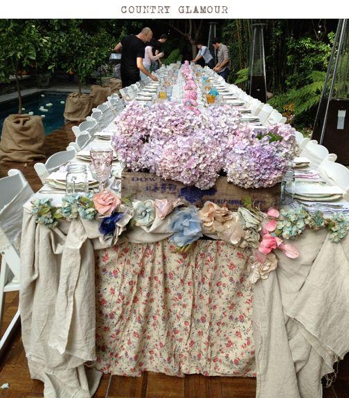shabby chicVintage Flower, Boho Chic, Chic Parties, Shabby Chic Flower, Rachel Ashwell, Summer Parties, Parties Tables, Chic Couture, Ashwell Shabby