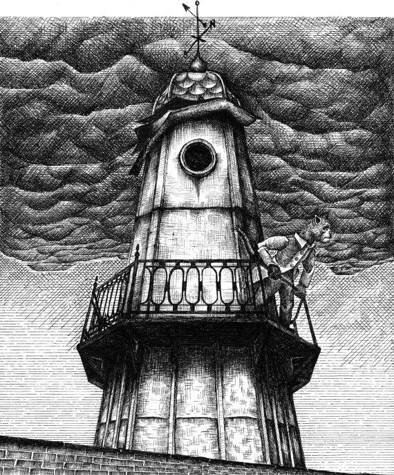 The Tower Illustration by BeastsandBirdies on Etsy, £50.00