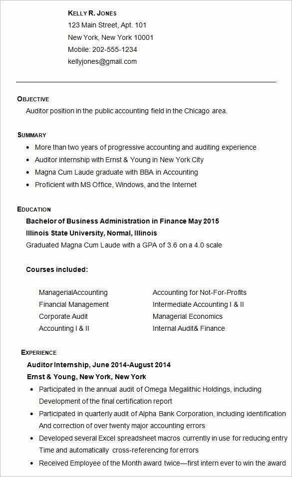 resume template for college application inspirational