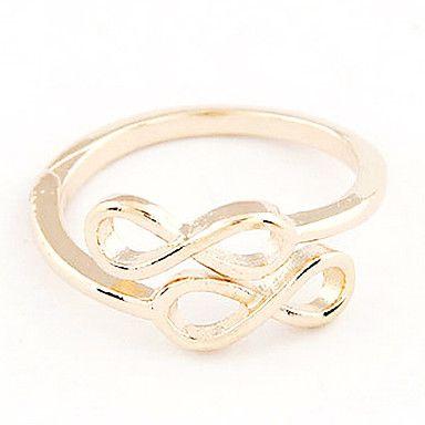"Classic ""∞ ∞"" Shaped Vrouwen goud legering Verklaring Ringen (1 Pc) – EUR € 1.91"