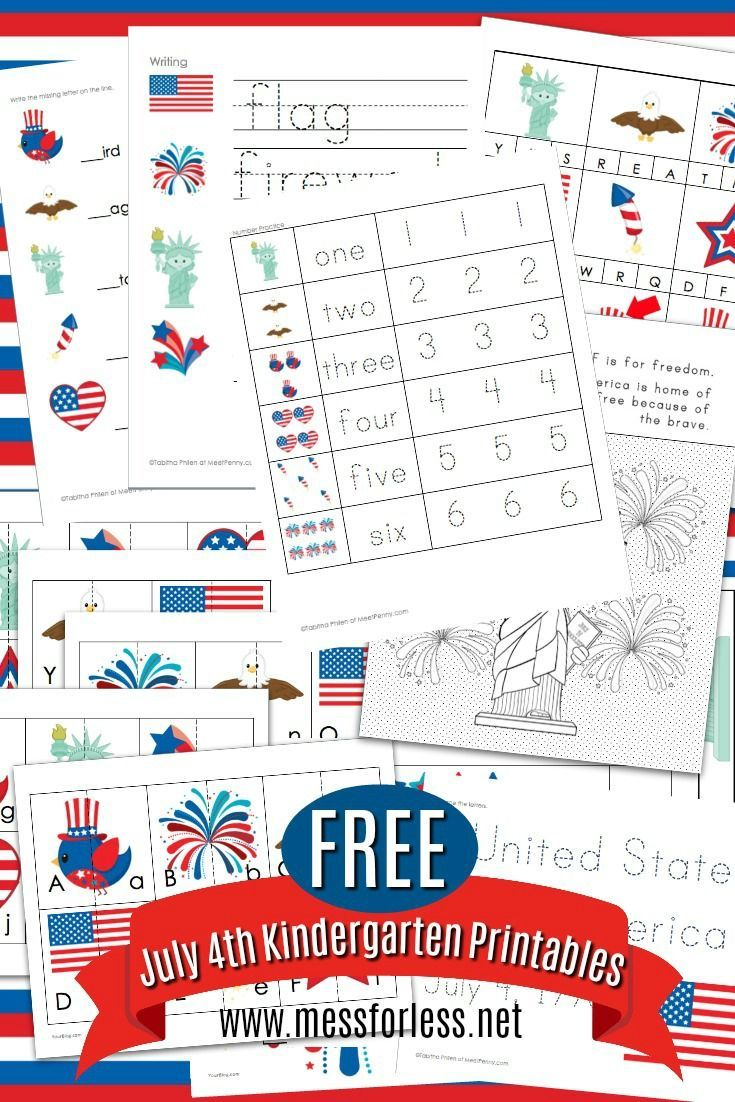 Free 4th Of July Worksheets For Kindergarten Kindergarten Worksheets Independence Day Activities Kindergarten Math Activities [ 1102 x 735 Pixel ]