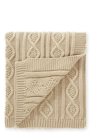 Natural Chunky Knit Throw from Next £45, 125x160cm. (could I knit this?)