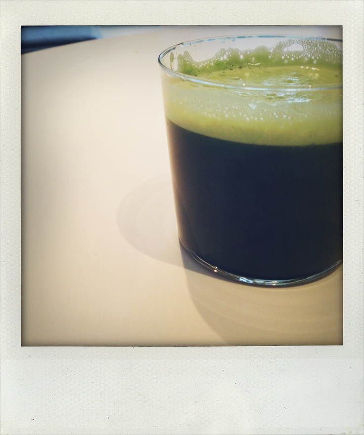 Day 3 breakfast: Greens juice: 1 apple, handful of kale, 2 celery sticks, 3 inches of an English cucumber, half a lemon.