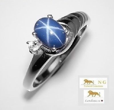 1.6 ct NATURAL BLUE STAR SAPPHIRE RING 6 - A