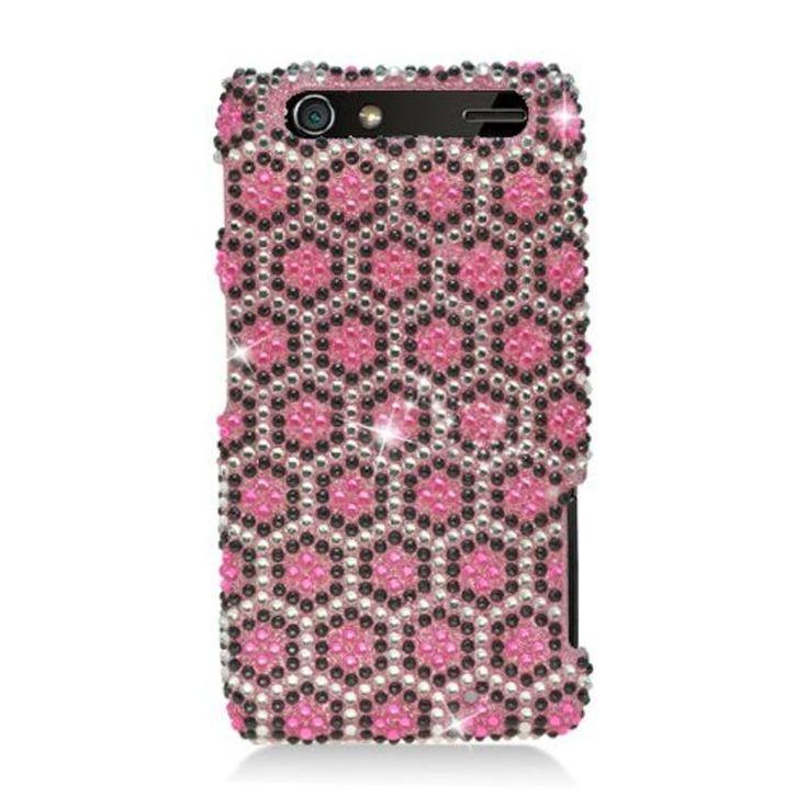 Insten Hexagon Hard Snap-on Diamond Bling Case Cover For Motorola Droid Razr XT912 #2330138